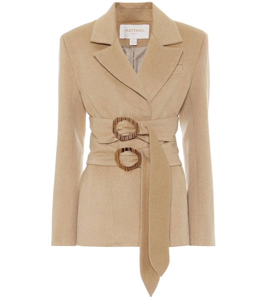 Double-belted wool-blend blazer by Mat?iel Tbilisi