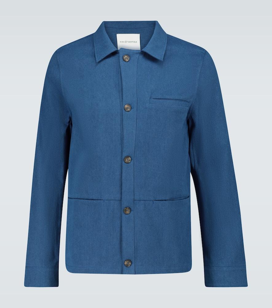 Cotton work overshirt