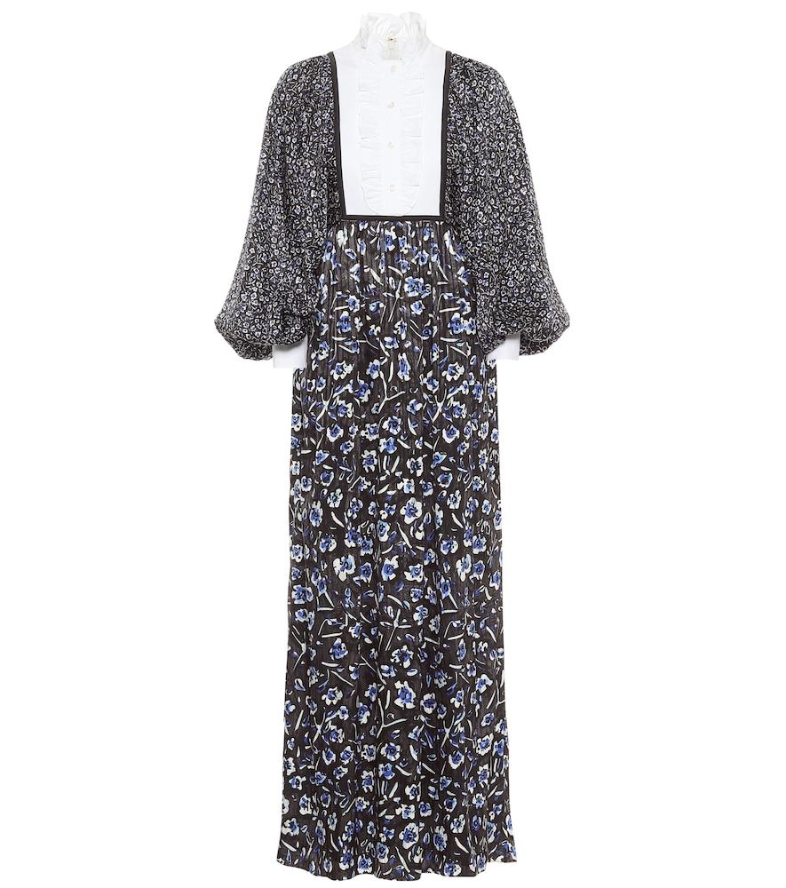 Floral stretch-silk maxi dress by Tory Burch
