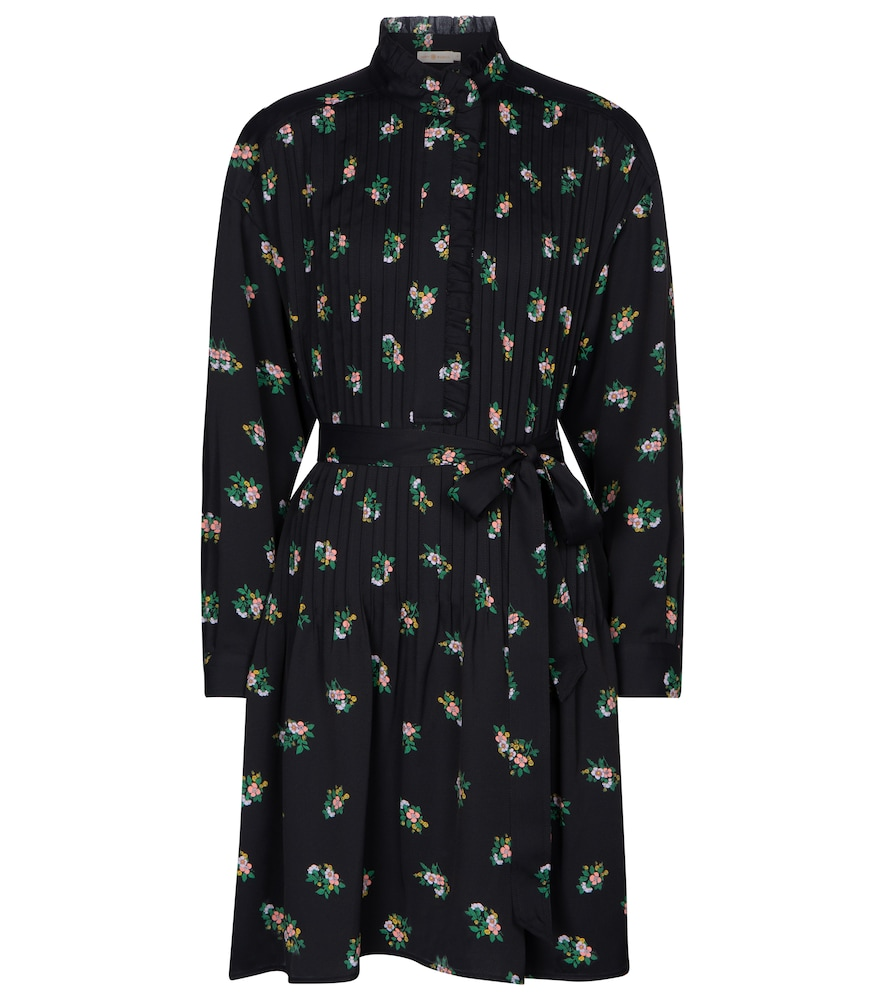 Cora floral pleated shirt dress by Tory Burch
