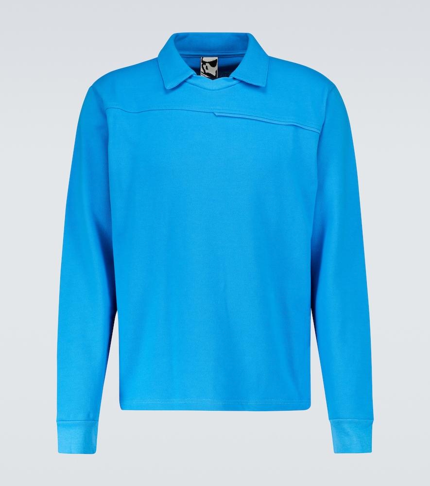 Stock V long-sleeved polo shirt