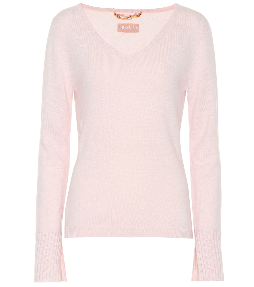 81 HOURS Cabin Cashmere Sweater in Pink