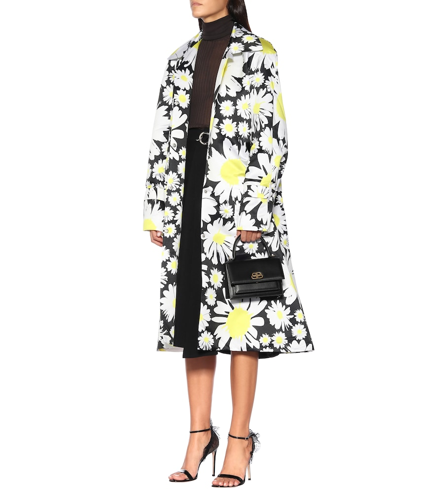 Daisy-print duchess-satin coat by Richard Quinn