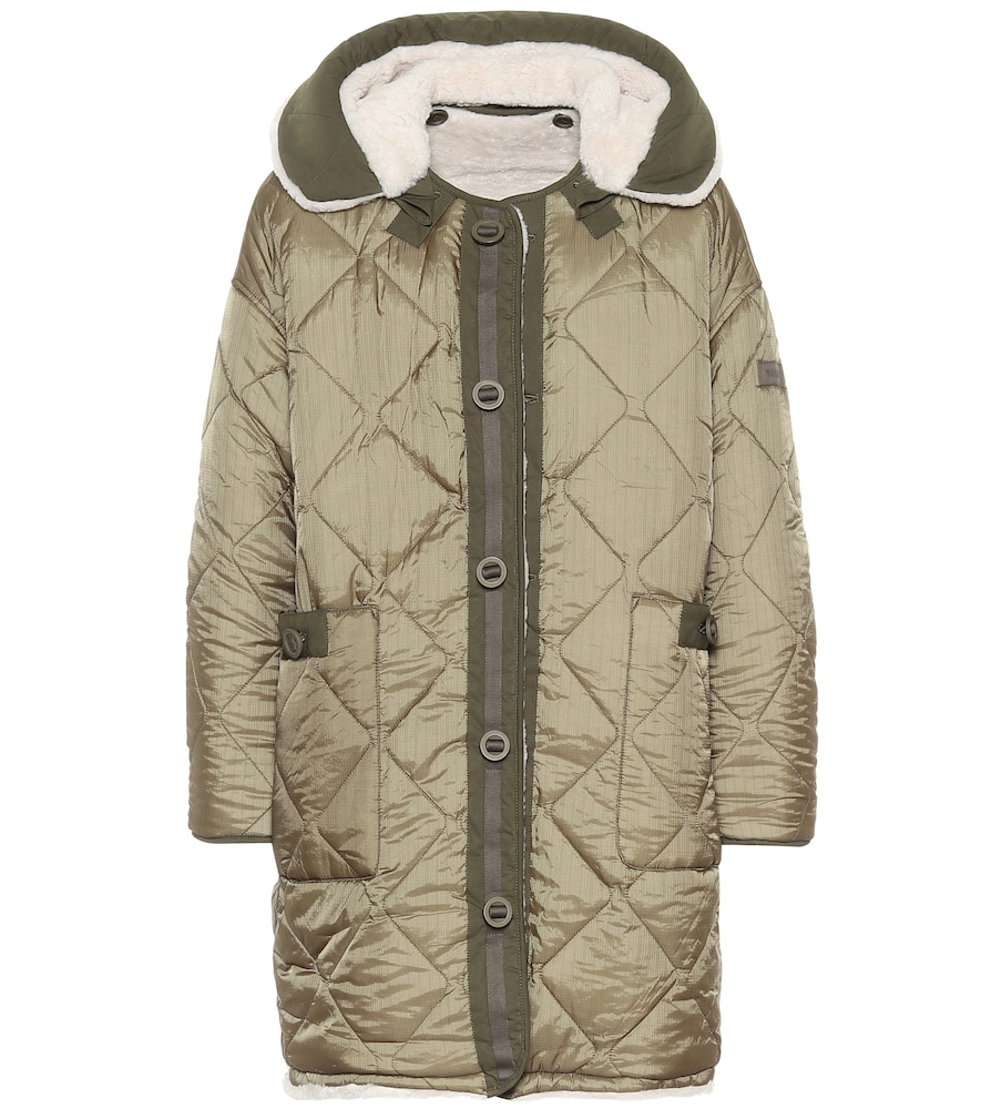 Manteau Army réversible en shearling - Yves Salomon - Modalova