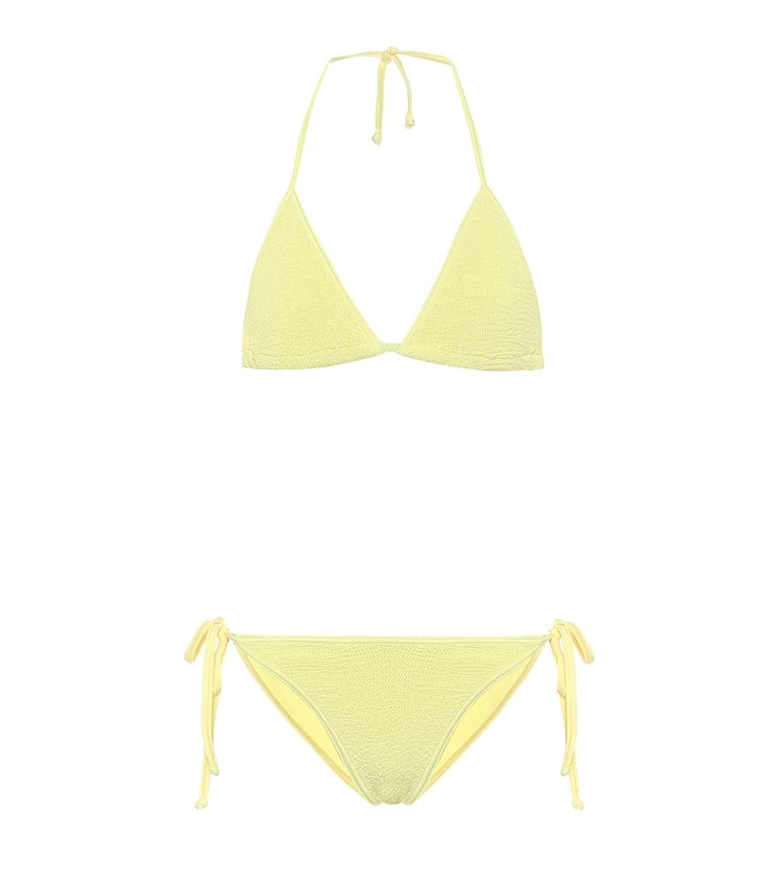 Hunza G Carmen Triangle Bikini In Yellow