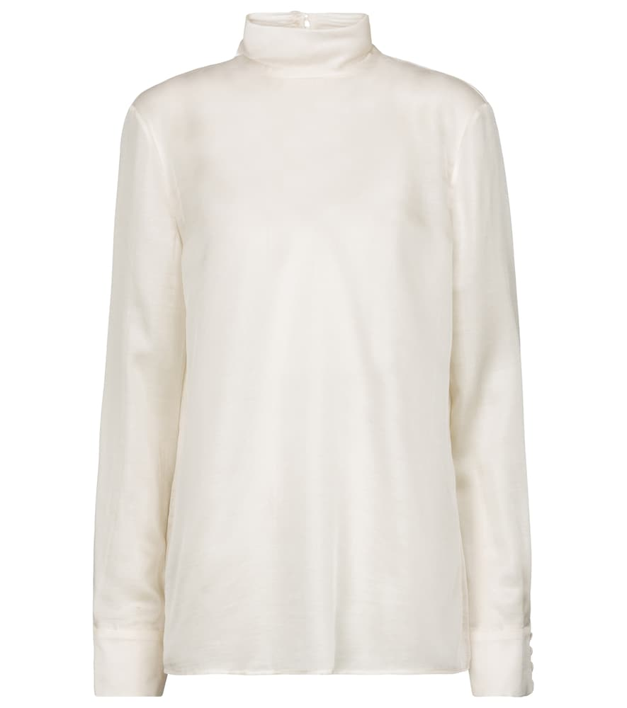 Gabriela Hearst Bisti silk and cashmere blouse