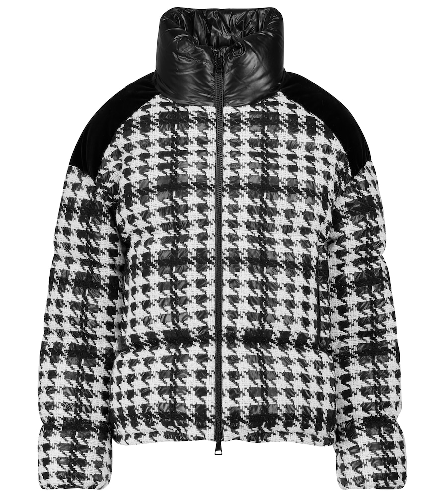 Erine checked puffer jacket