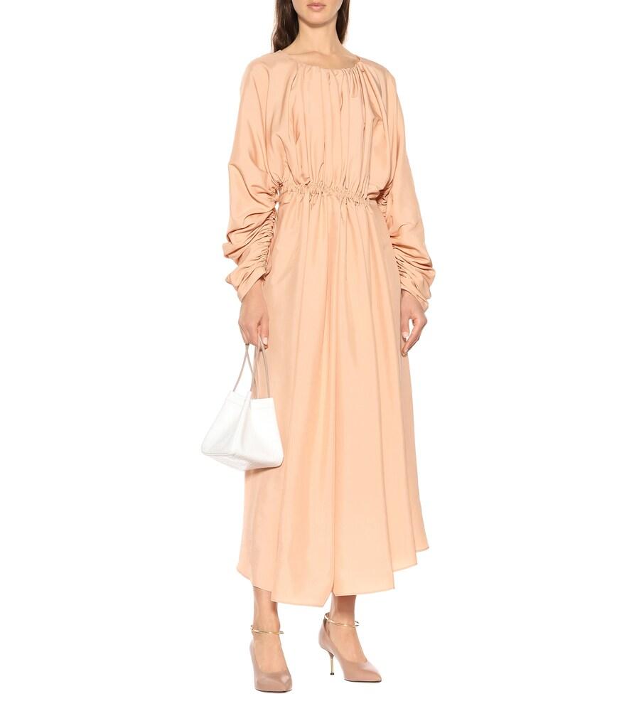 Gathered midi dress by Jil Sander