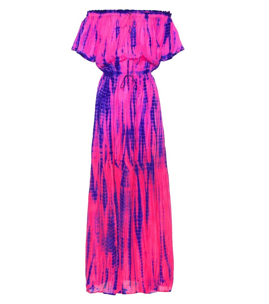 ANNA KOSTUROVA Tie-Dye Silk Maxi Dress in Multicoloured
