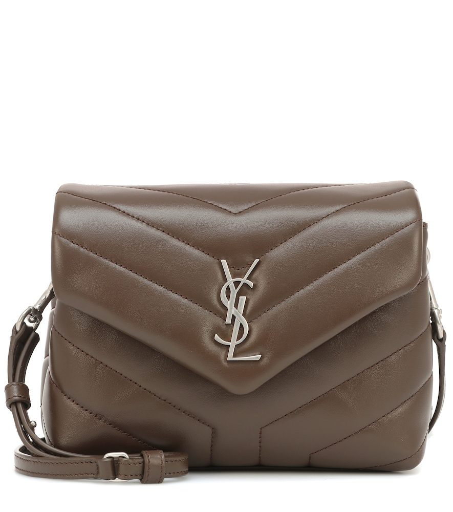 Toy Loulou Leather Shoulder Bag in Brown