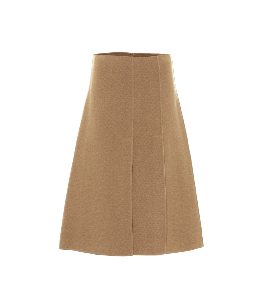 Sophie wool and cashmere midi skirt