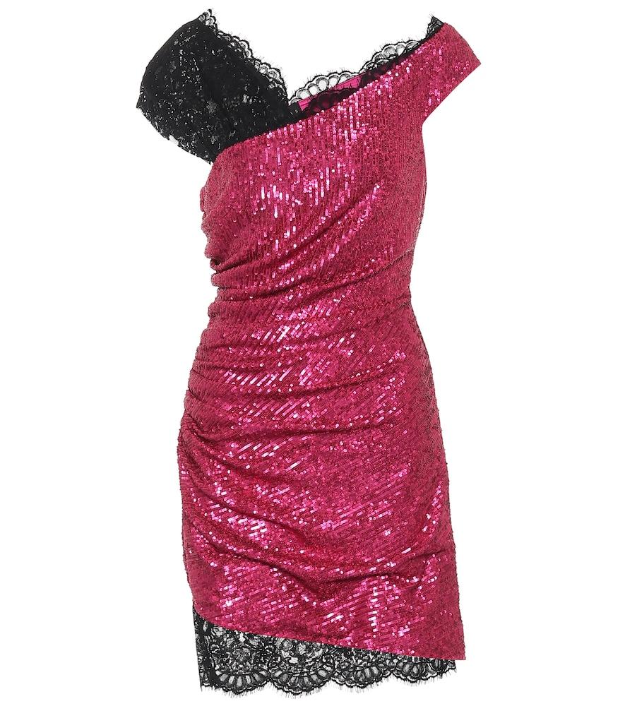 Sequin draped minidress