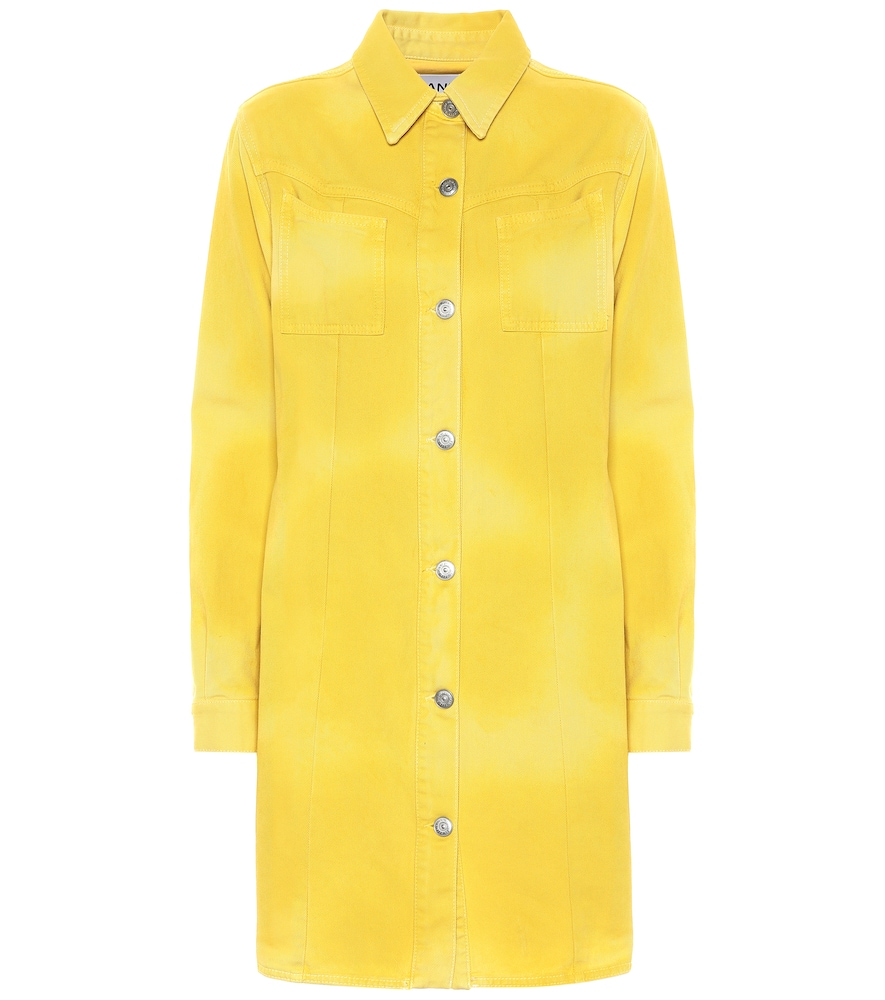 cb4194088f Ganni Denim Dress In Yellow