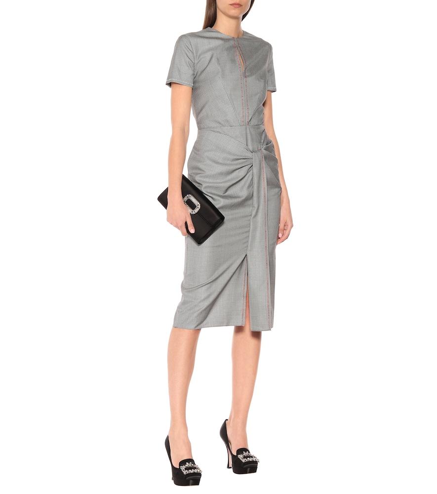 Dalva wool and silk midi dress by Roland Mouret