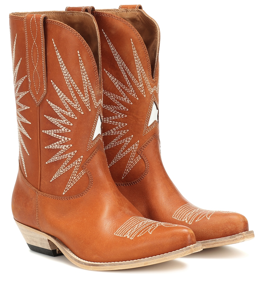Wish Star leather cowboy boots