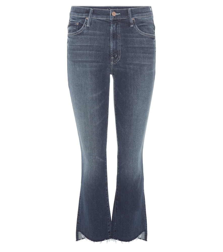 MOTHER | The Insider Crop Step Fray jeans | Goxip