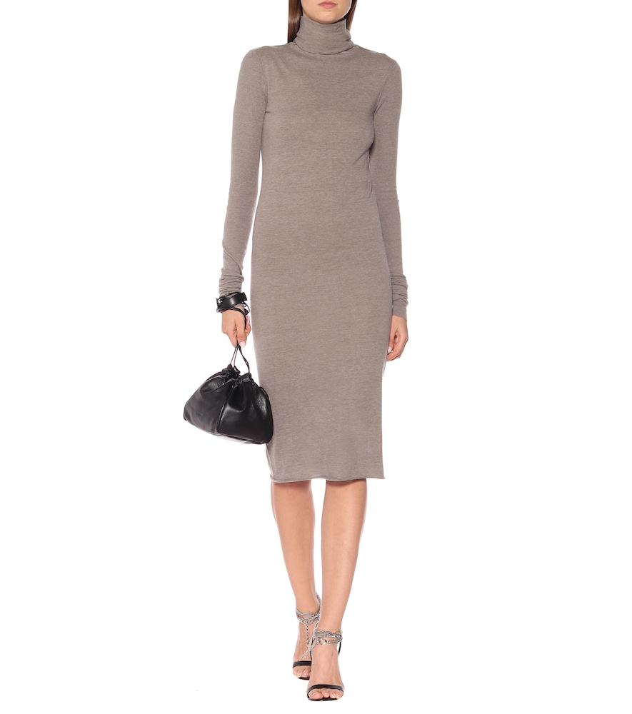 Turtleneck midi dress by Rick Owens