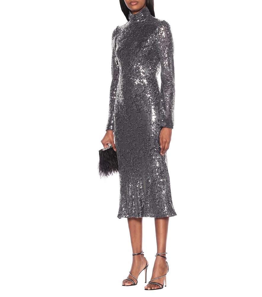 Legato sequined midi dress by Galvan