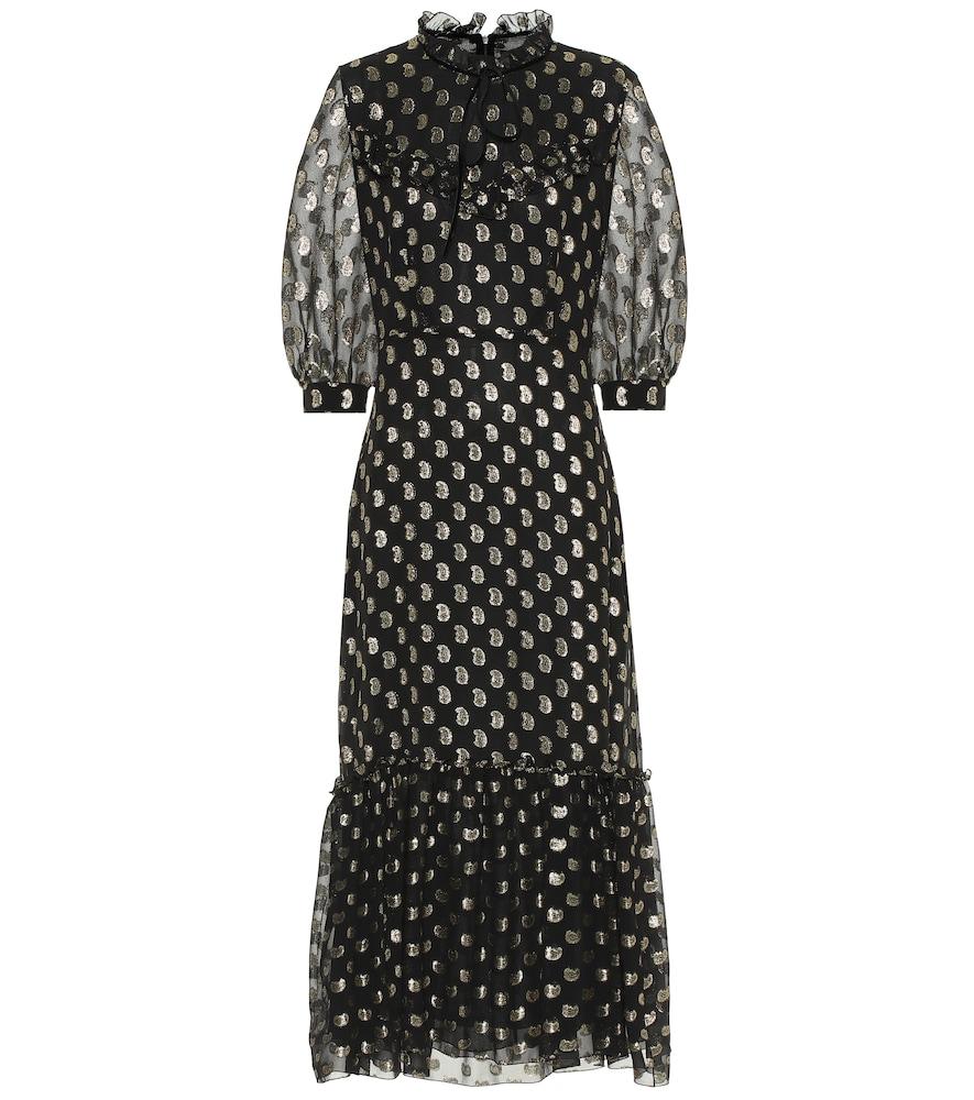 Robe longue en soie à fil coupé - Etro - Modalova