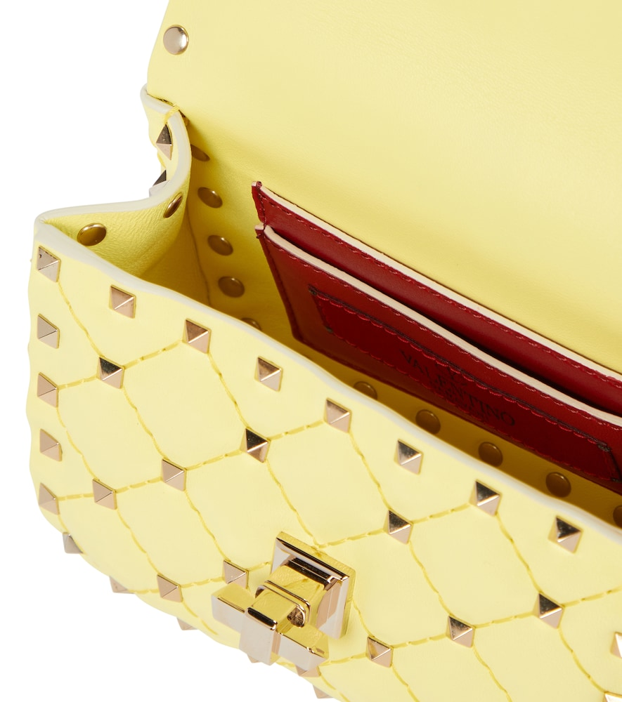 VALENTINO Leathers ROCKSTUD SPIKE MICRO LEATHER CROSSBODY BAG