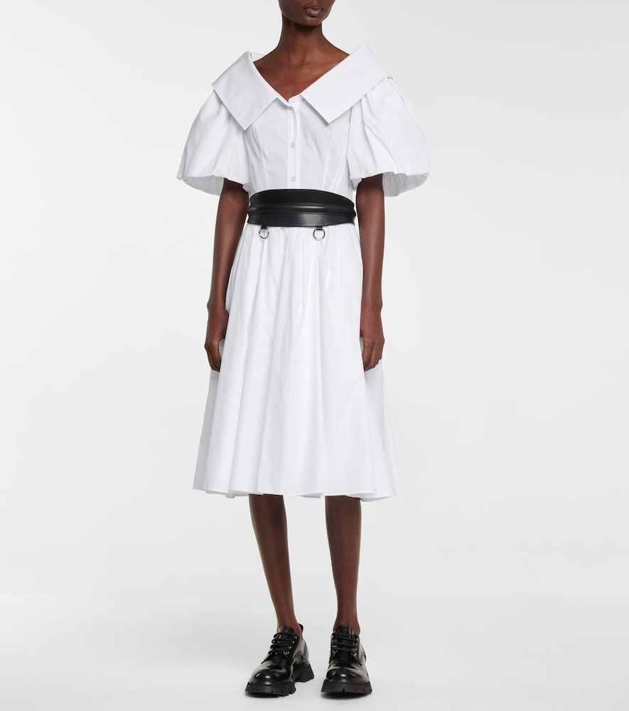 ALEXANDER MCQUEEN Cottons COTTON MIDI DRESS