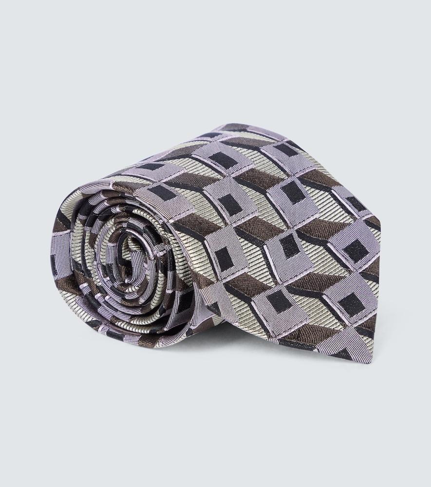 Cravate en soie à imprimée