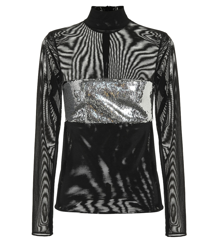 CHROME SEQUINED TOP