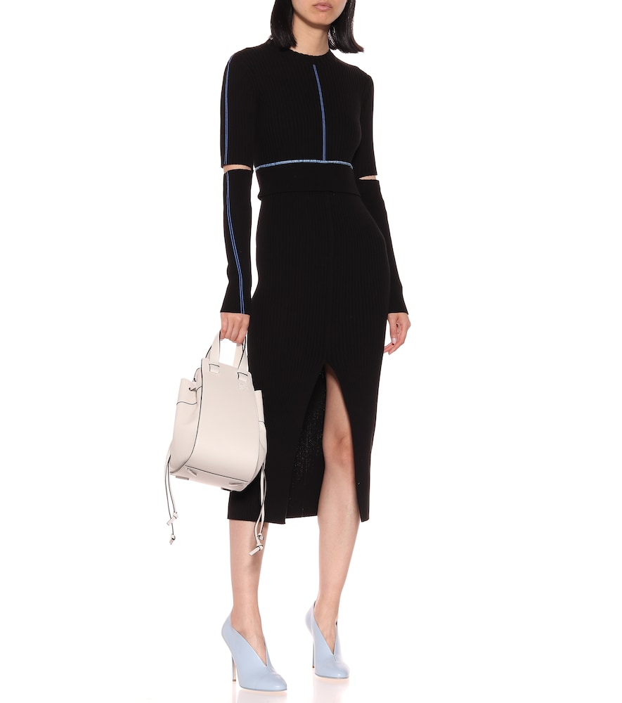 Ribbed knit cotton midi dress by Victoria Beckham