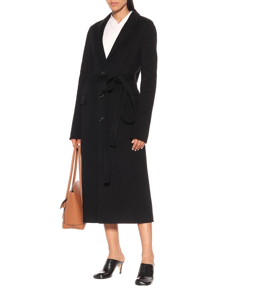 Belted wool coat by Bottega Veneta