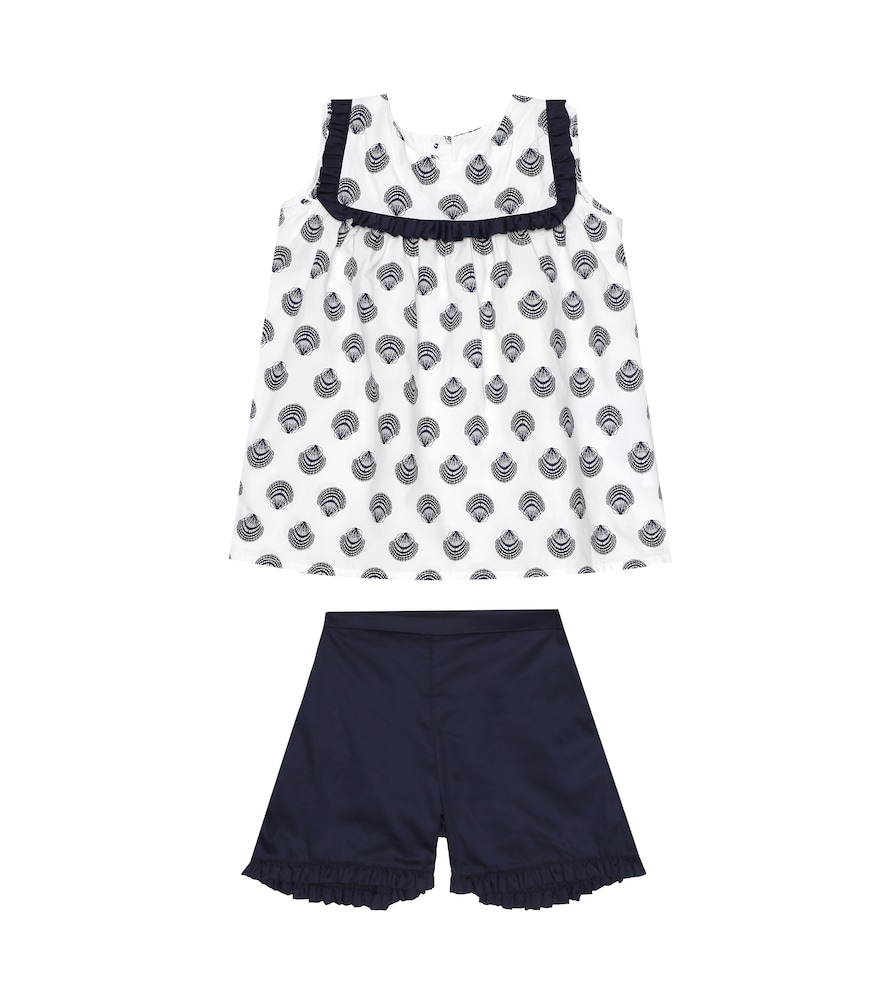 Ensemble top imprimé et short en coton