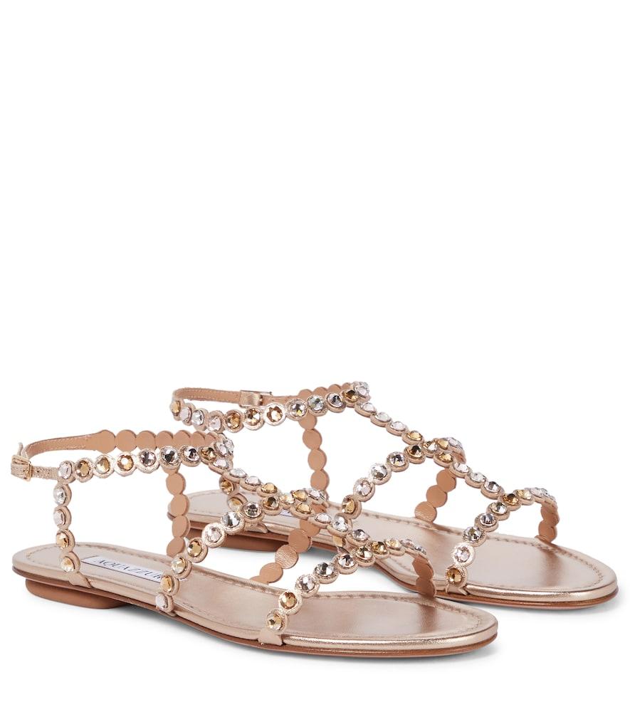 Tequila embellished leather sandals