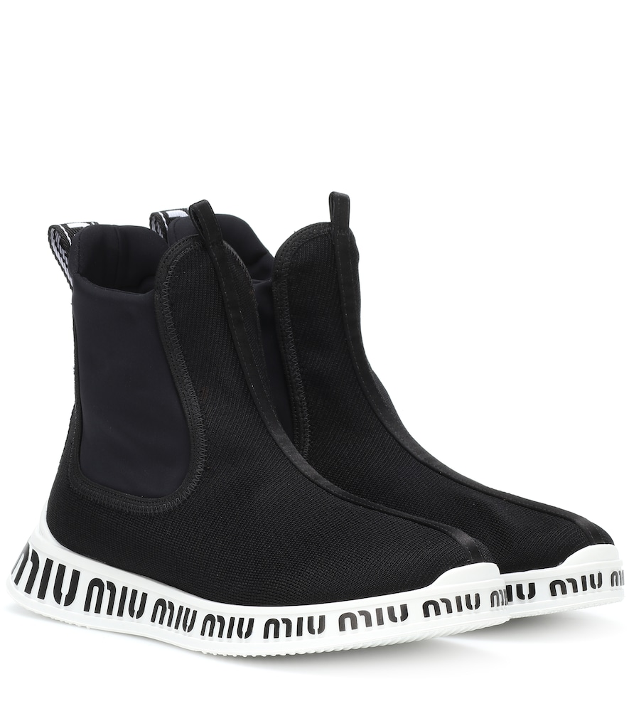STRETCH HIGH-TOP SNEAKERS
