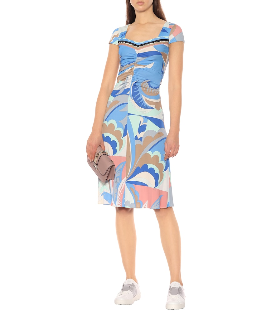 Printed silk-blend midi dress by Emilio Pucci