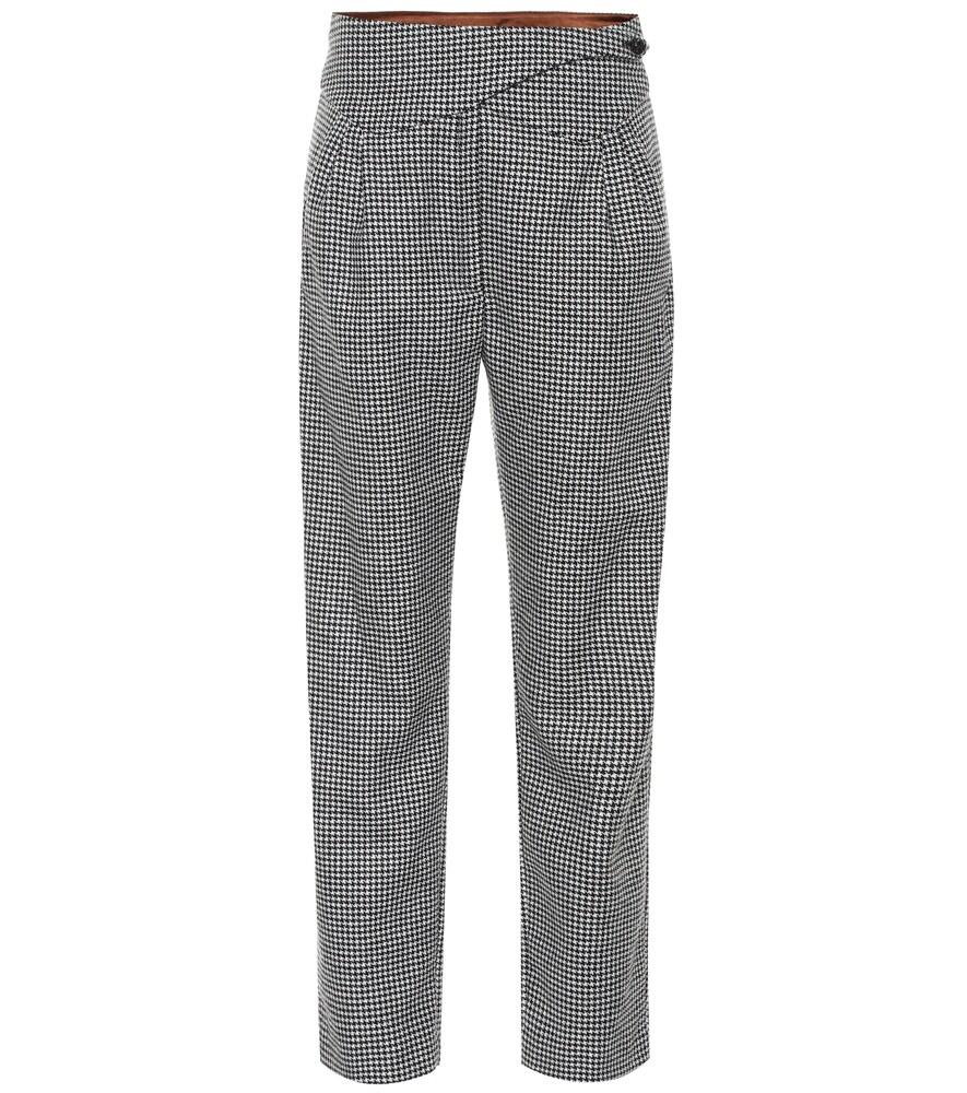 Pantalon Kismet Basque en laine mélangée à carreaux