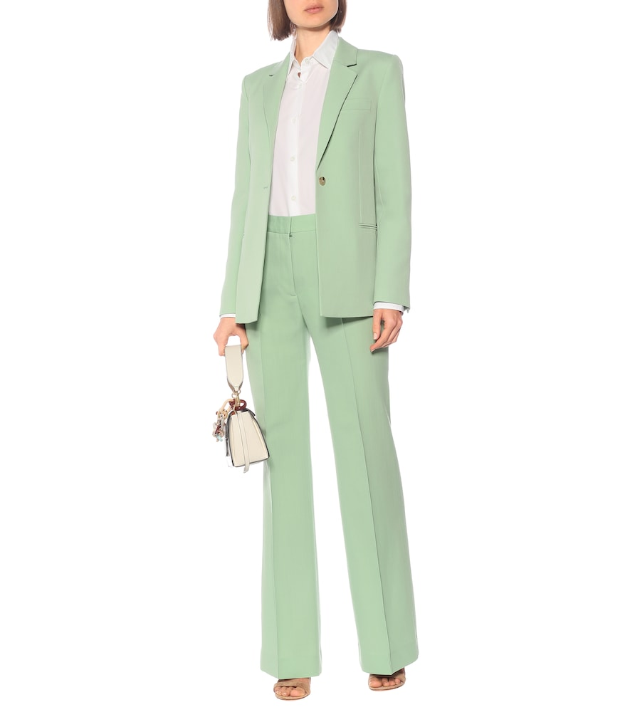 Wool-blend single-breasted blazer by Victoria Victoria Beckham