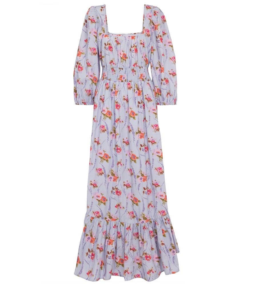 Minnia floral cotton maxi dress