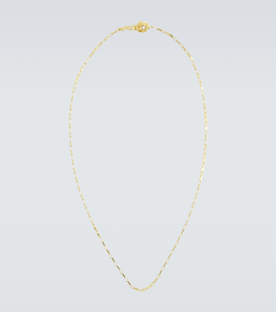 Gold-plated box chain necklace