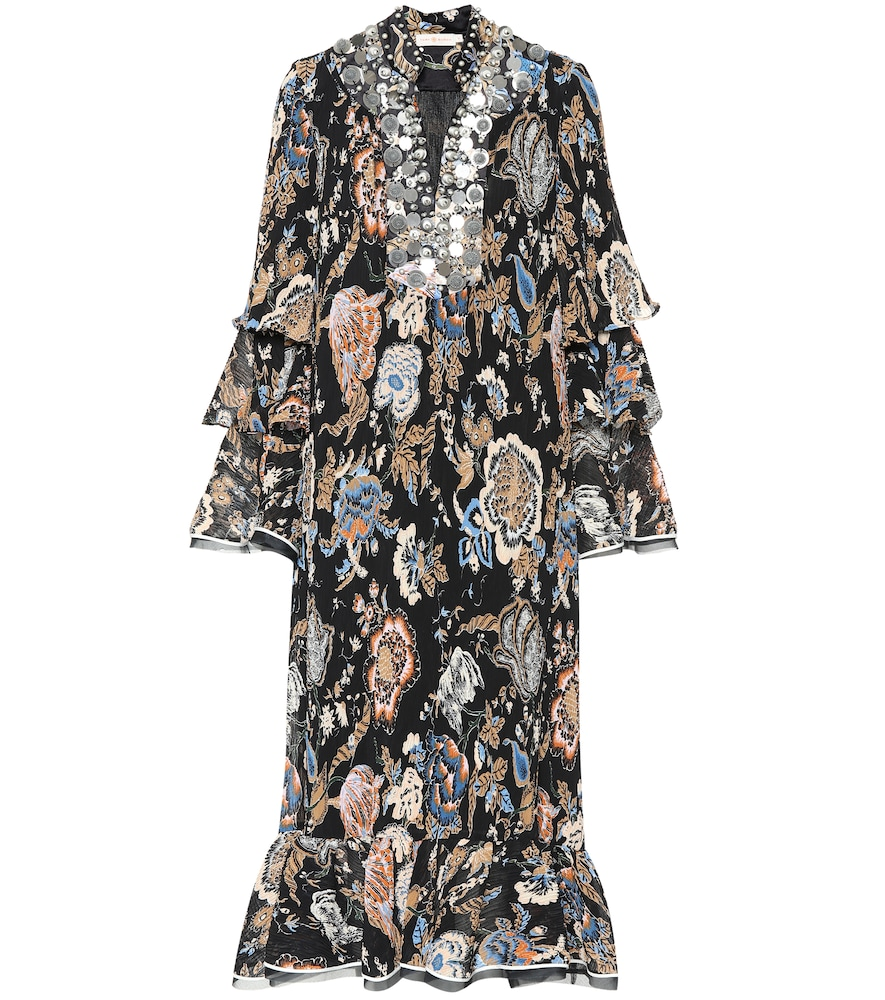 Dominique Embellished Pleated Dress, Multicoloured