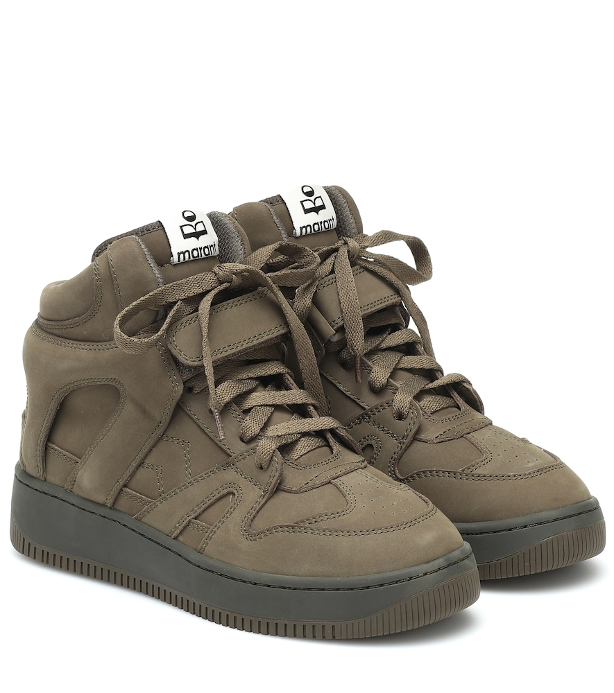 Brooklee suede high-top sneakers