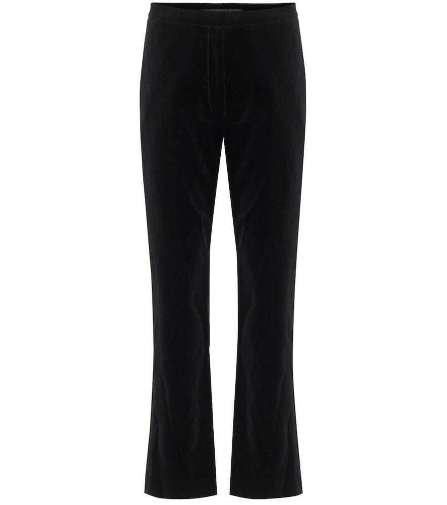 Meliza high-rise velvet pants
