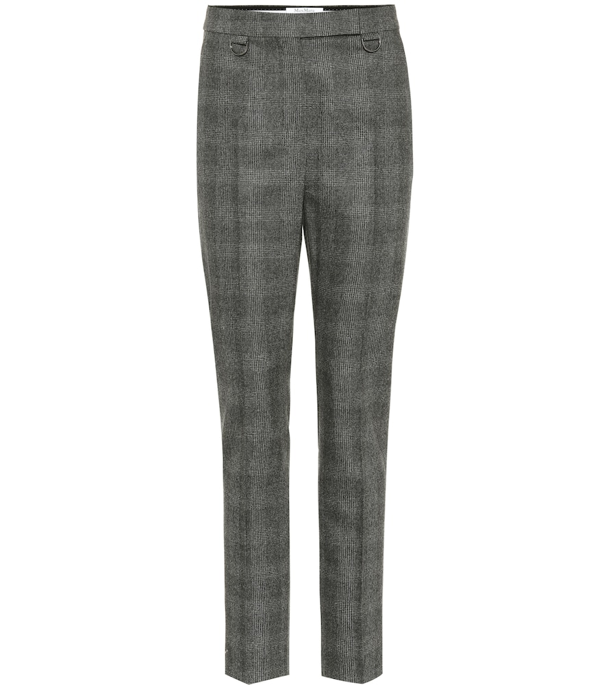 Zagara Wool And Cashmere Pants in Grey