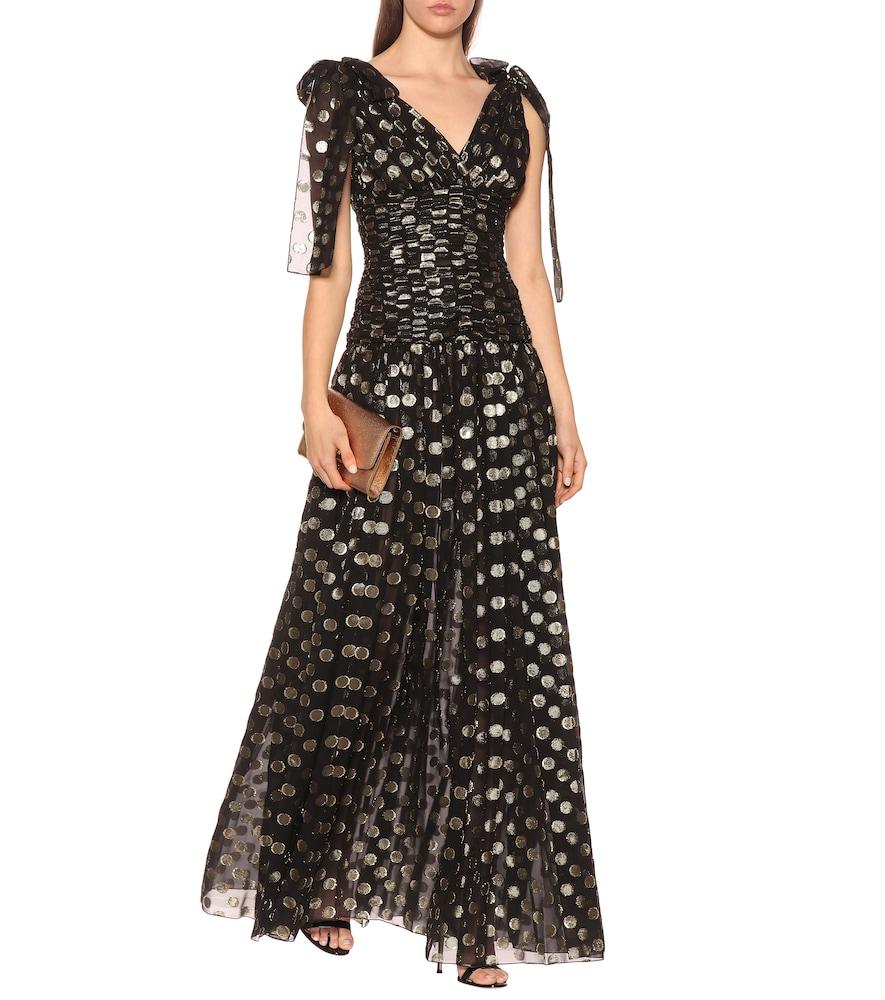 Photo of Fil coupé silk-blend gown by Dolce & Gabbana - shop Dolce & Gabbana Dresses, Midi & Long online