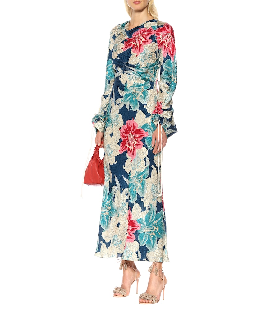 Floral silk jacquard maxi dress by Etro