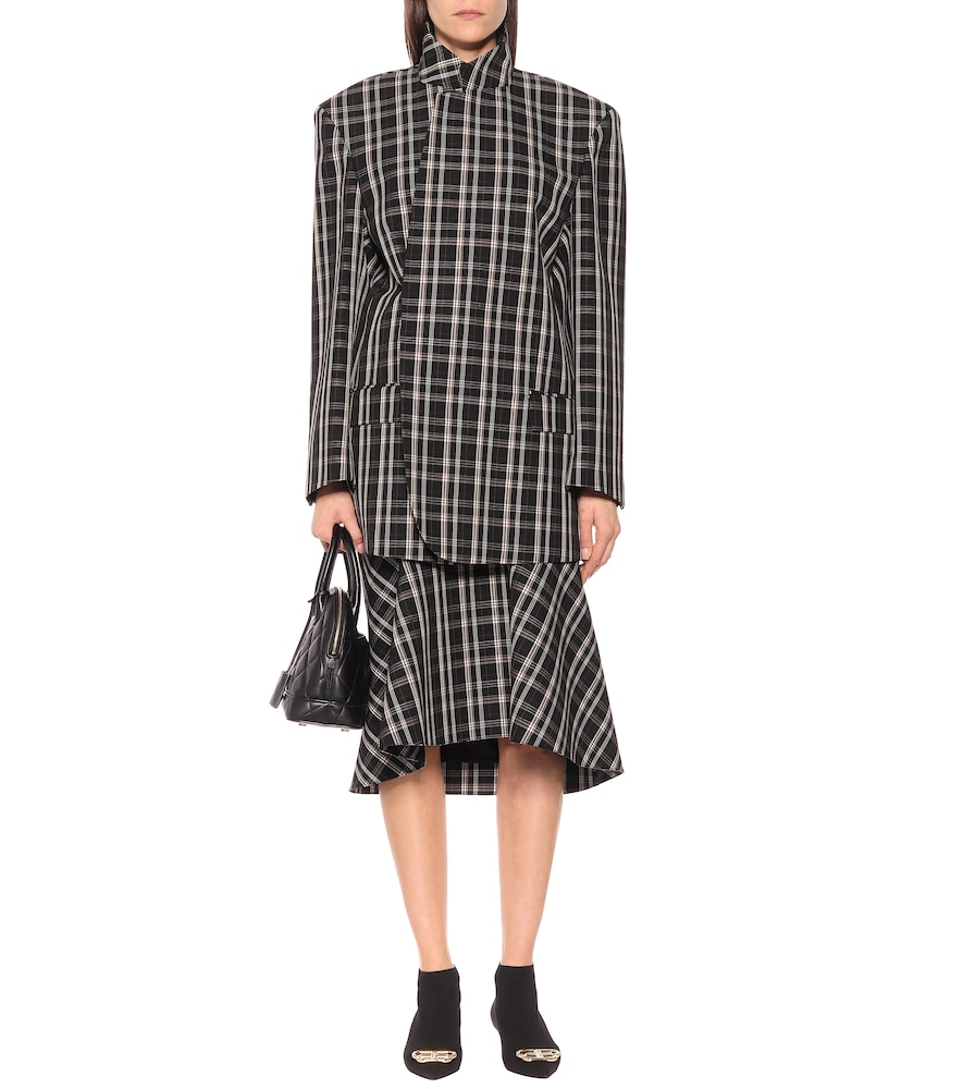 Checked virgin wool jacket by Balenciaga