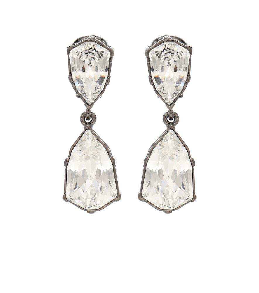 Boucles d'oreilles clip Gallery à cristaux Swarovski - Oscar de la Renta - Modalova