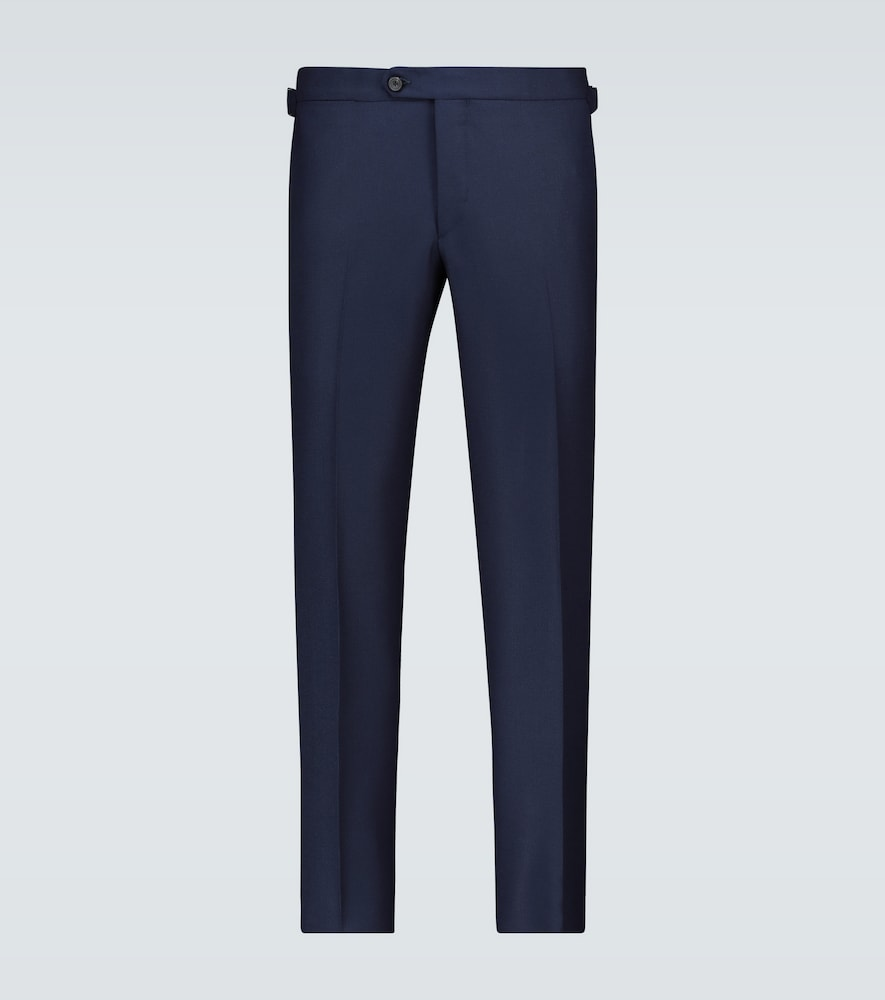 Thom Sweeney HOPSACK WOOL PANTS