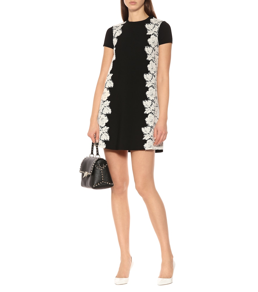 Crêpe and lace minidress by Valentino