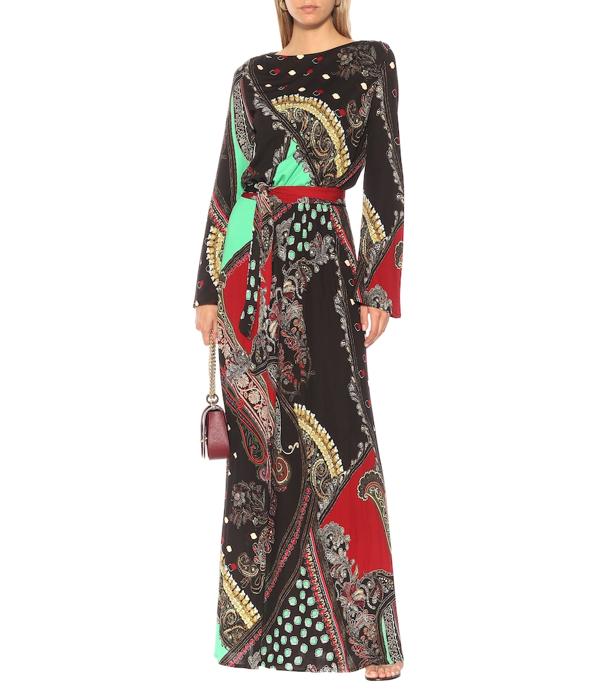 Printed crêpe gown by Etro