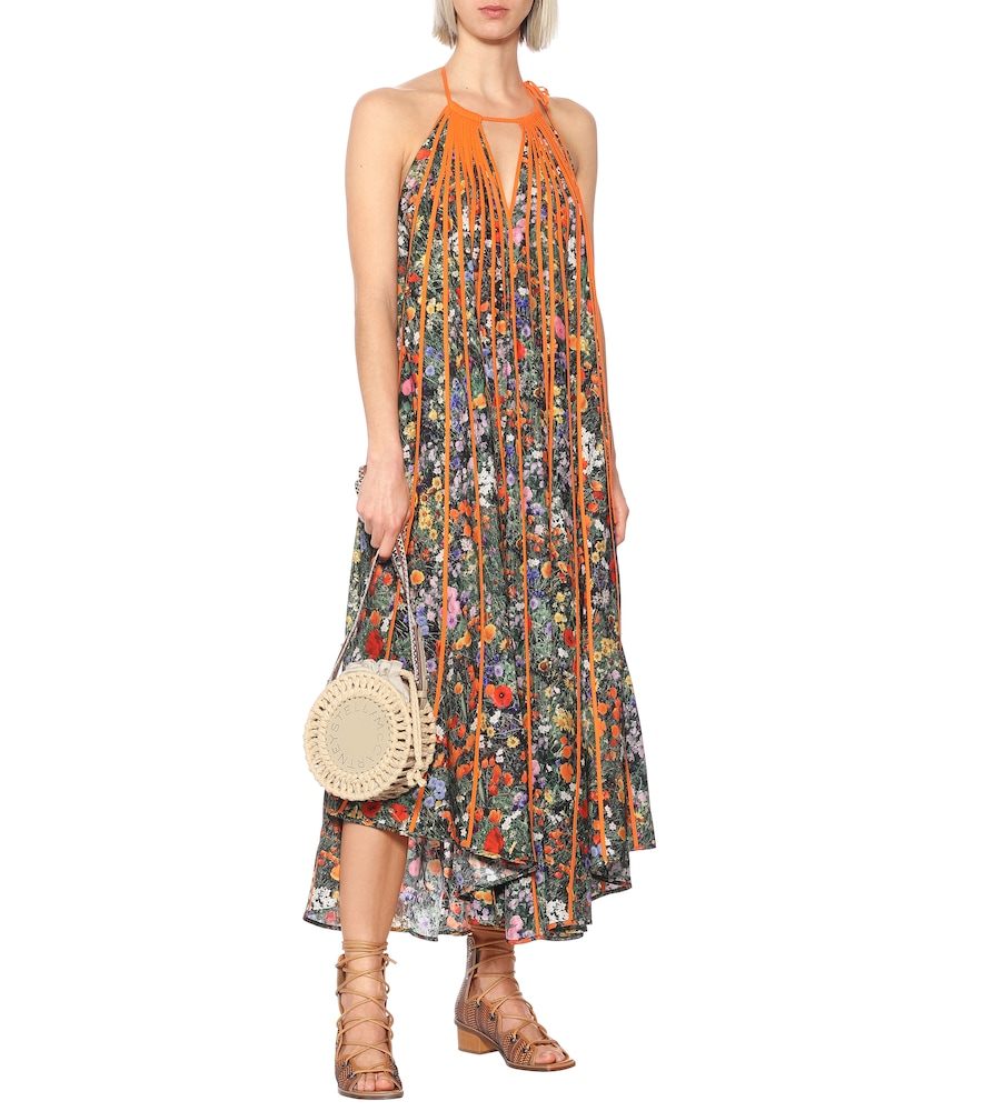 Photo of Klara floral pleated silk maxi dress by Stella McCartney - shop Stella McCartney Dresses, Knee-Length Dresses, Midi Dresses online