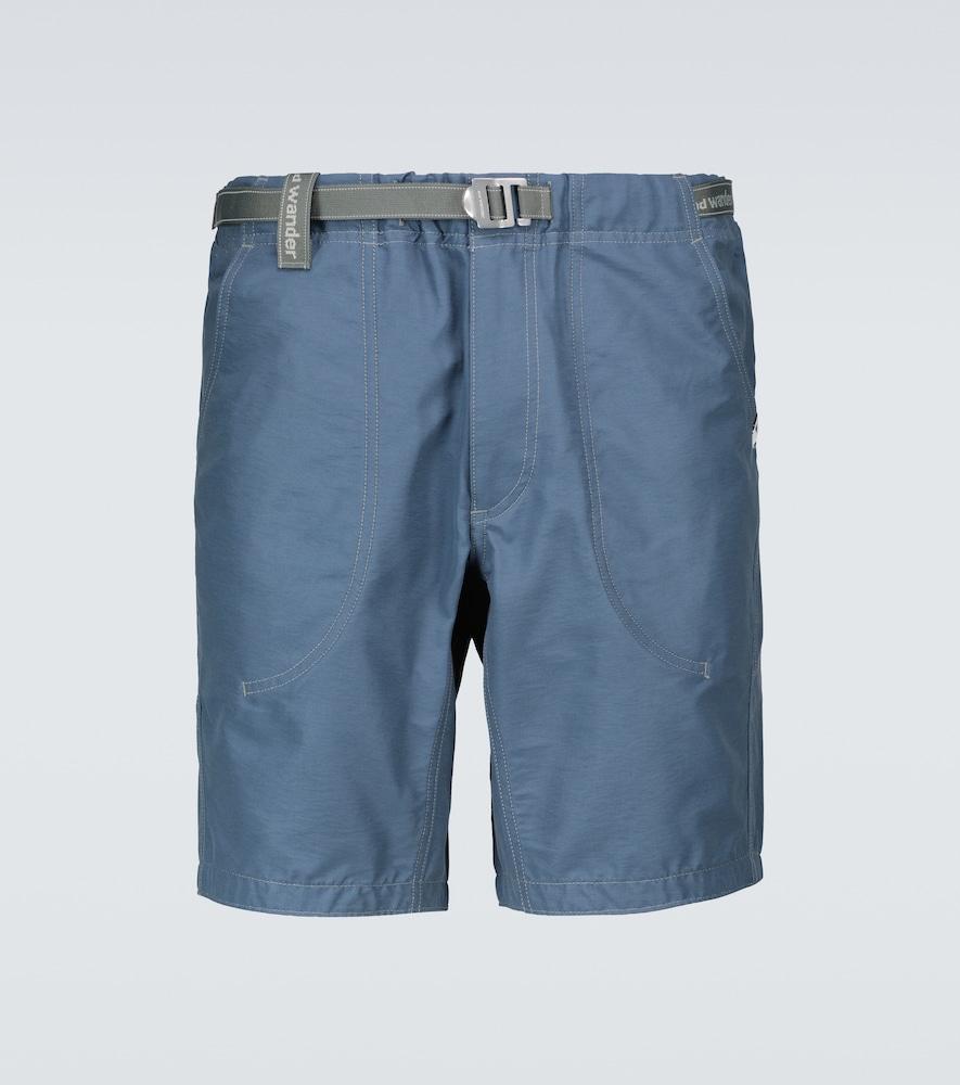 Cotton and nylon shorts
